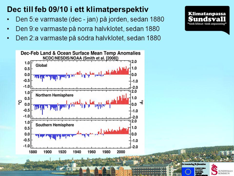 Dec till feb 09/10 i ett klimatperspektiv