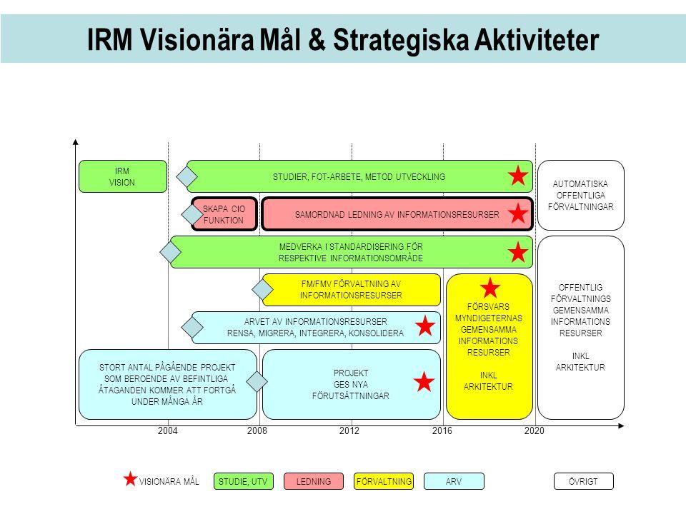 IRM Visionära Mål & Strategiska Aktiviteter
