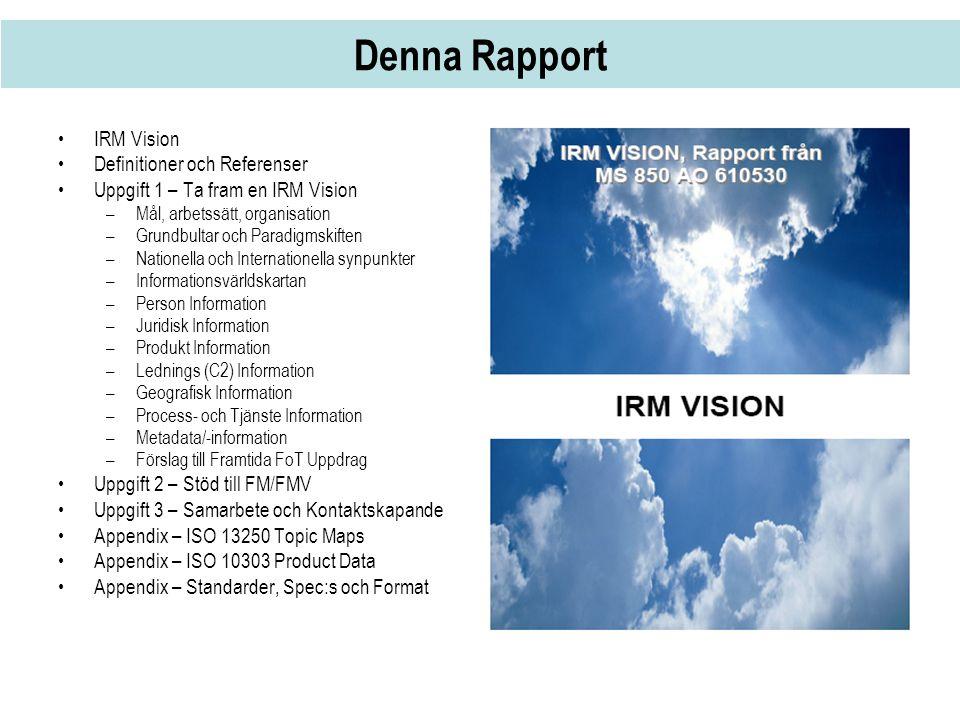 Denna Rapport IRM Vision Definitioner och Referenser