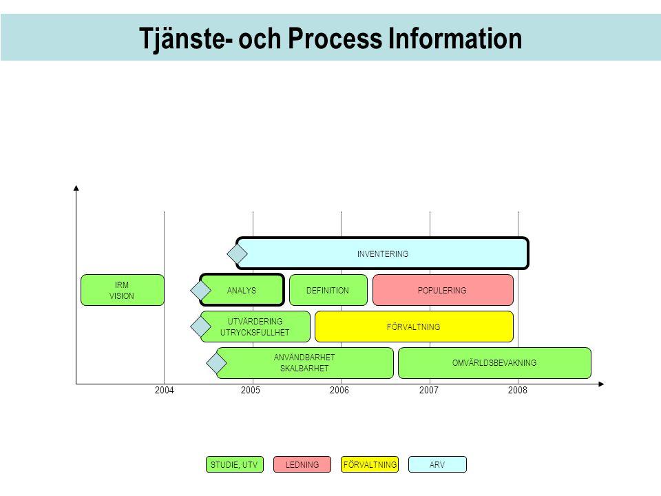 Tjänste- och Process Information