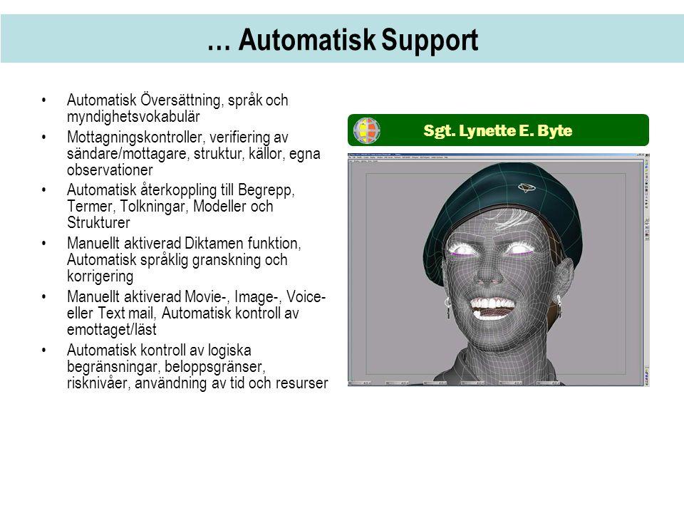 … Automatisk Support Automatisk Översättning, språk och myndighetsvokabulär.