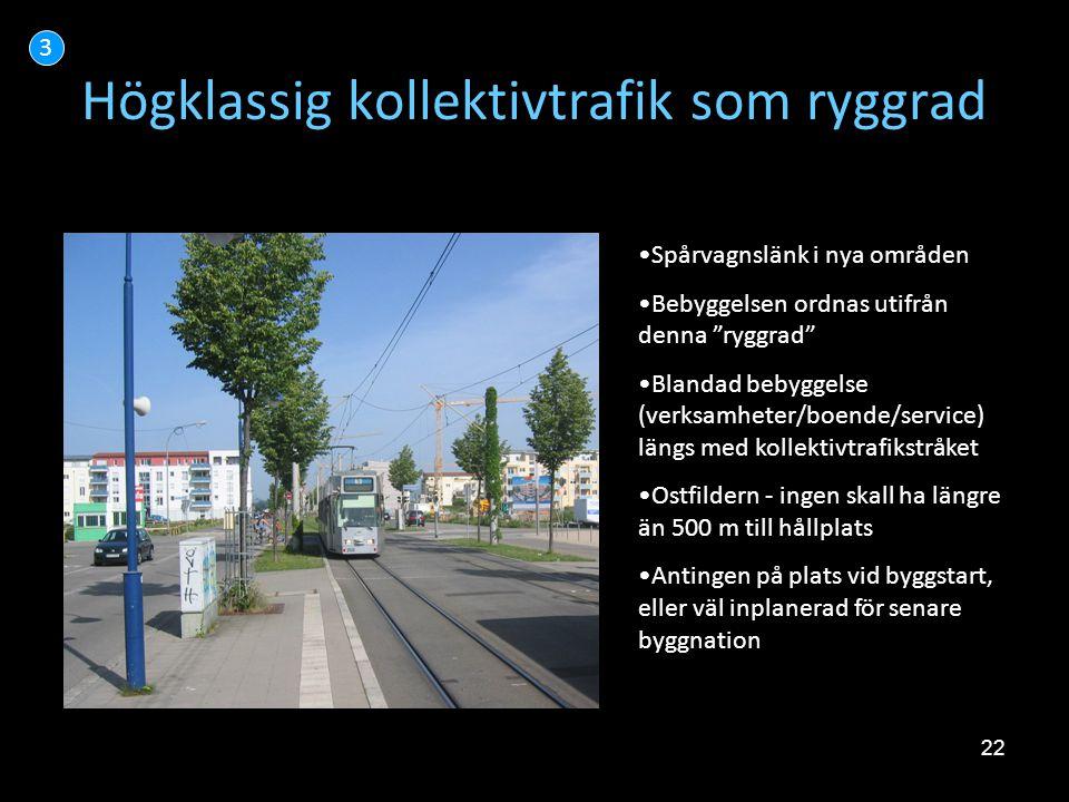Högklassig kollektivtrafik som ryggrad