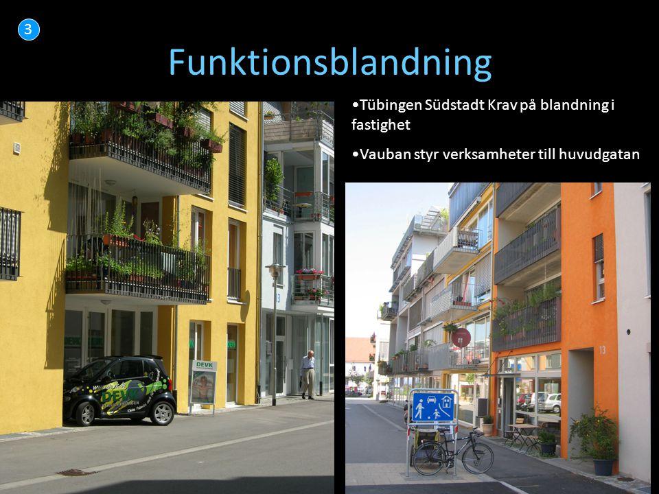 Funktionsblandning 3 Tübingen Südstadt Krav på blandning i fastighet