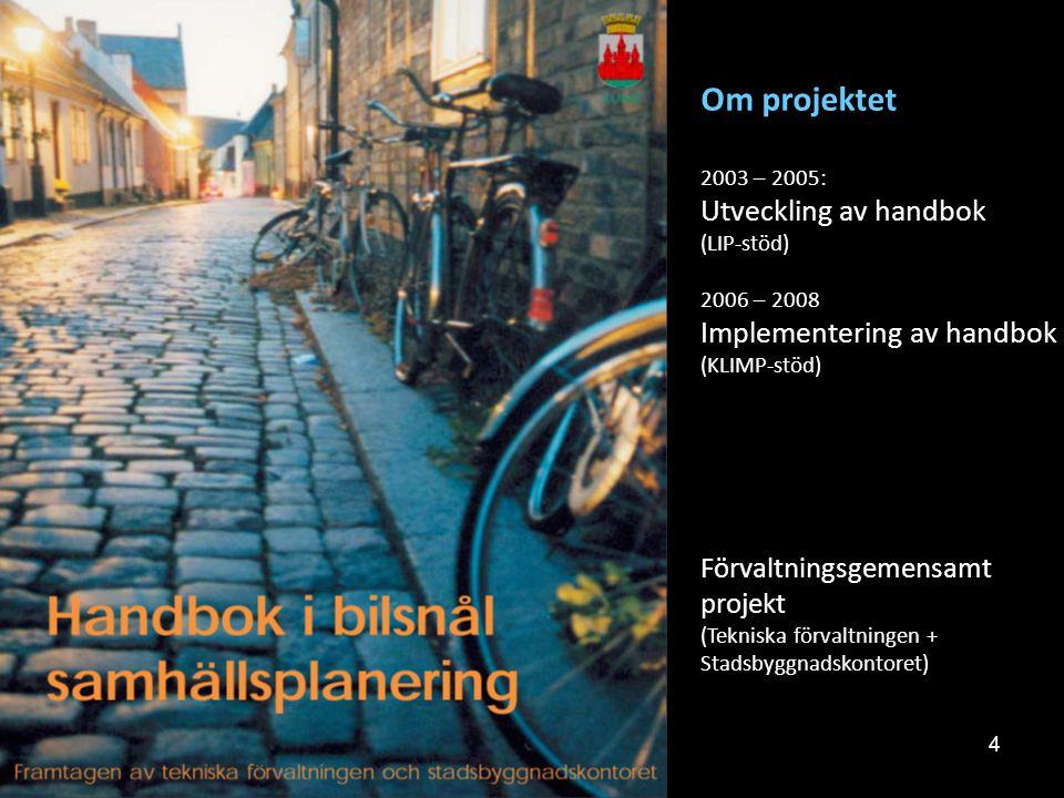 Om projektet Utveckling av handbok Implementering av handbok