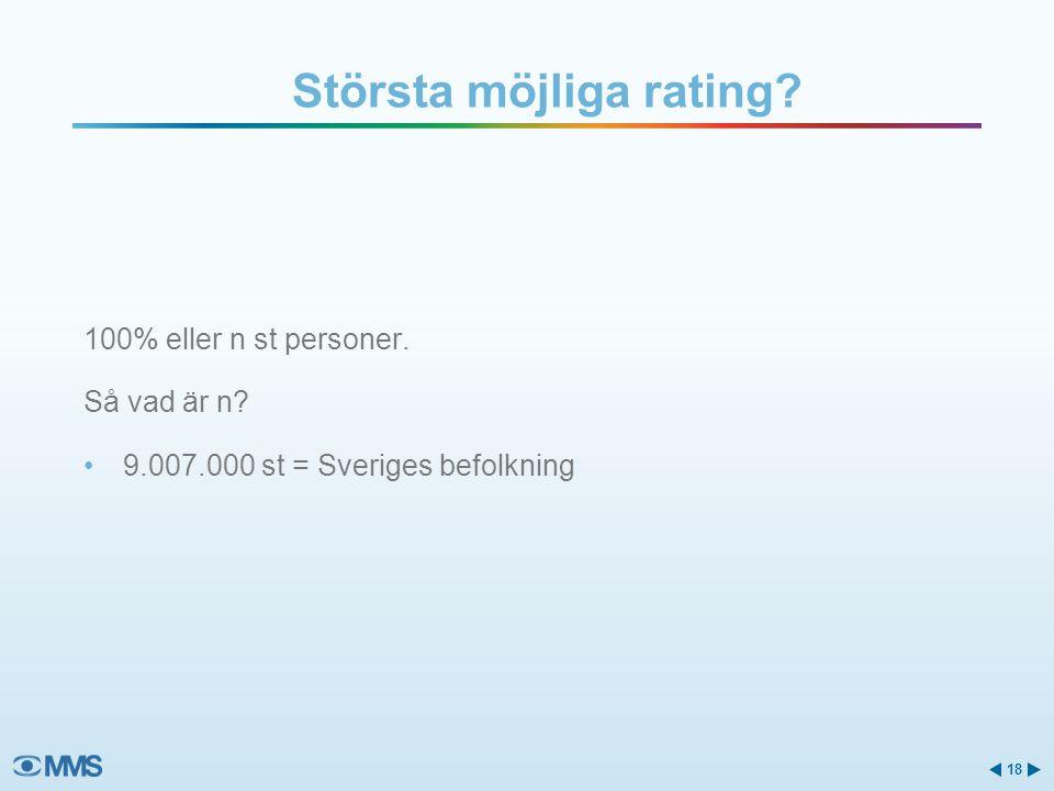 Största möjliga rating