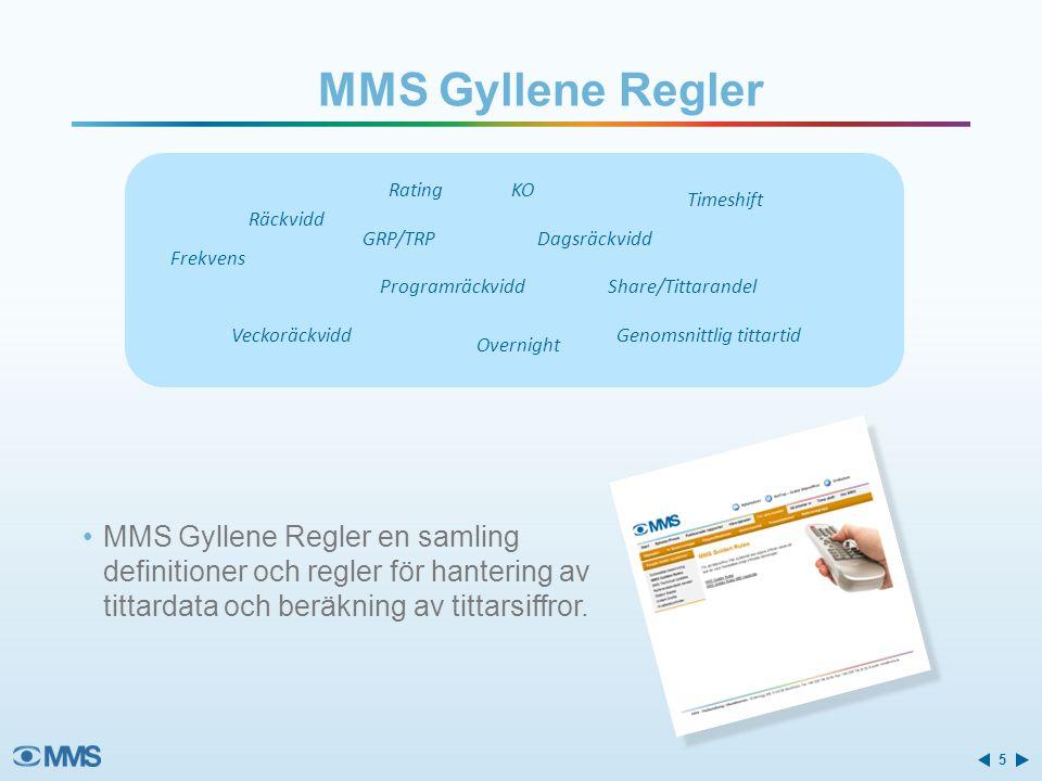 MMS Gyllene Regler Räckvidd. Frekvens. GRP/TRP. Veckoräckvidd. Dagsräckvidd. Programräckvidd. Overnight.