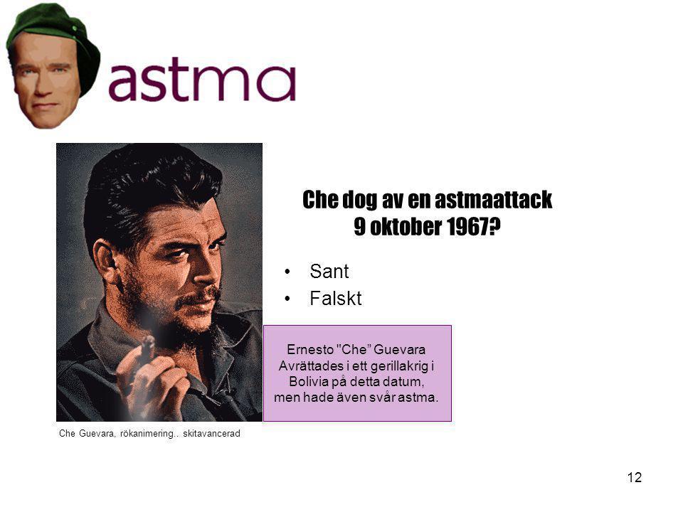 Che dog av en astmaattack 9 oktober 1967