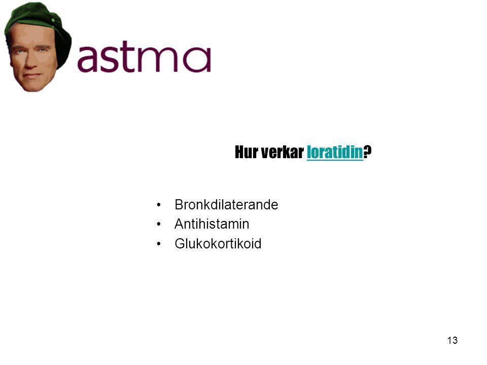 Hur verkar loratidin Bronkdilaterande Antihistamin Glukokortikoid