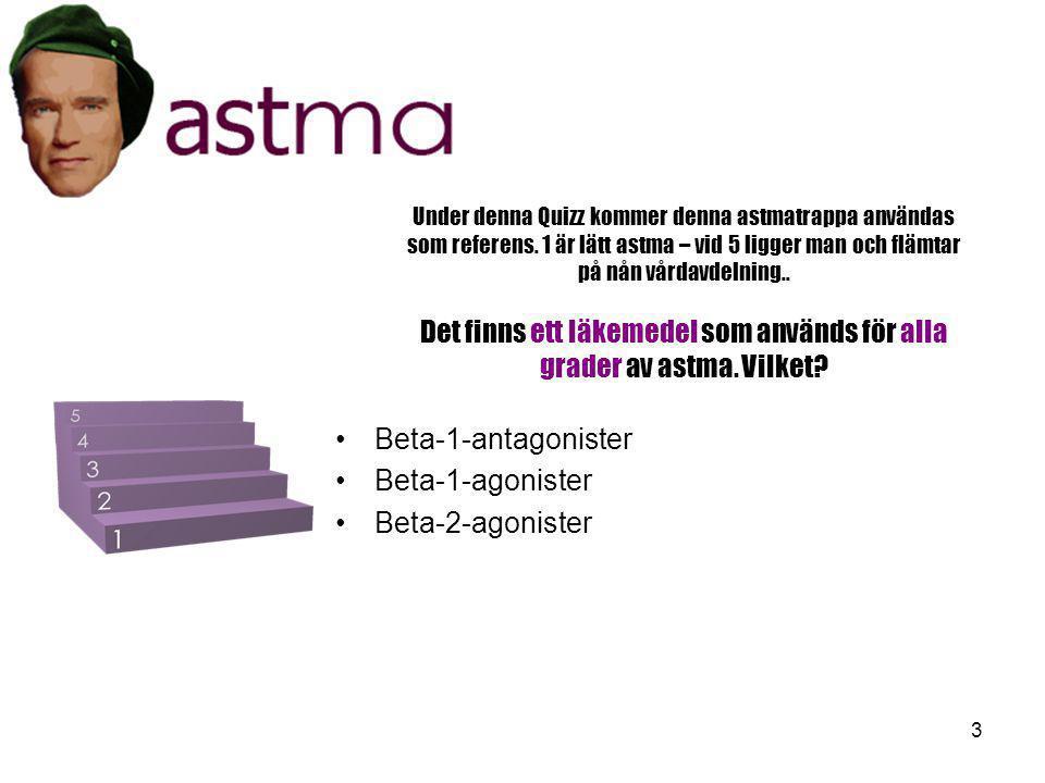 Beta-1-antagonister Beta-1-agonister Beta-2-agonister