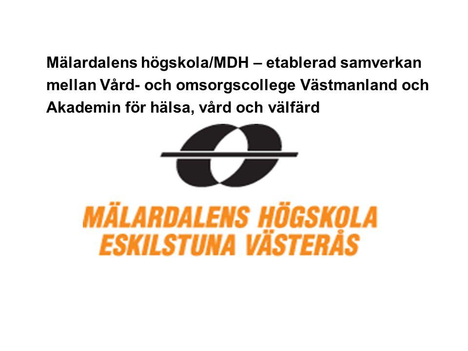 Mälardalens högskola/MDH – etablerad samverkan