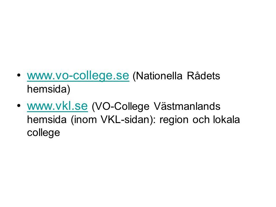 www.vo-college.se (Nationella Rådets hemsida)