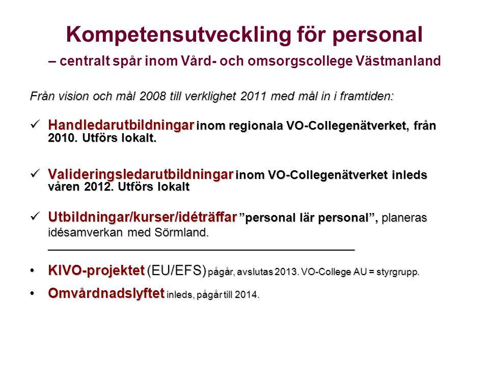 Kompetensutveckling för personal – centralt spår inom Vård- och omsorgscollege Västmanland