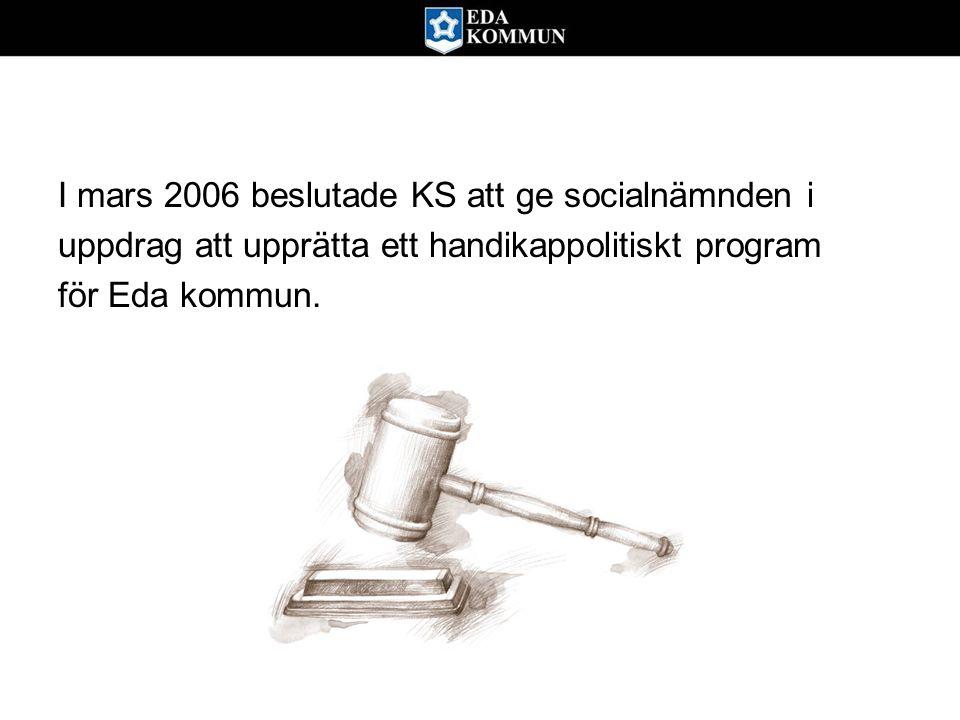 I mars 2006 beslutade KS att ge socialnämnden i