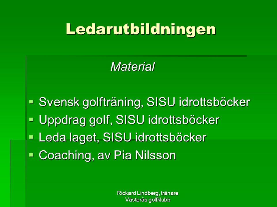 Rickard Lindberg, tränare Västerås golfklubb
