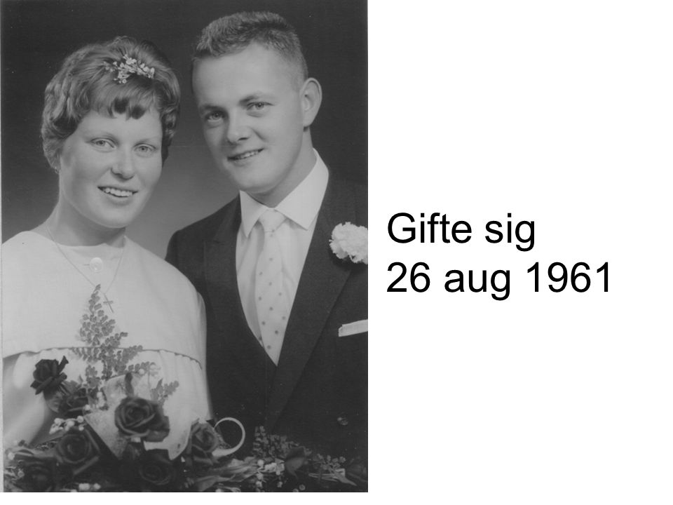 Gifte sig 26 aug 1961
