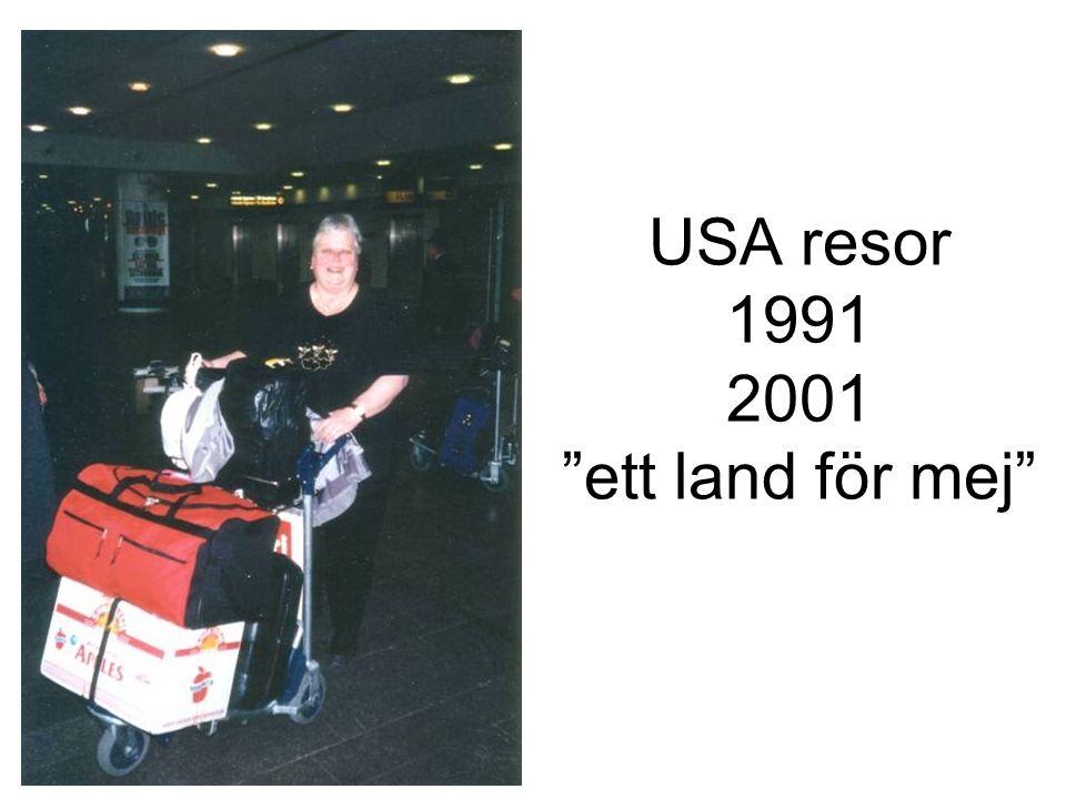 USA resor 1991 2001 ett land för mej