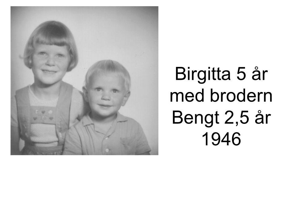 Birgitta 5 år med brodern Bengt 2,5 år 1946