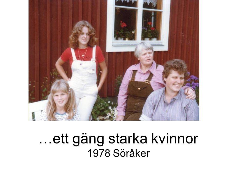 …ett gäng starka kvinnor 1978 Söråker