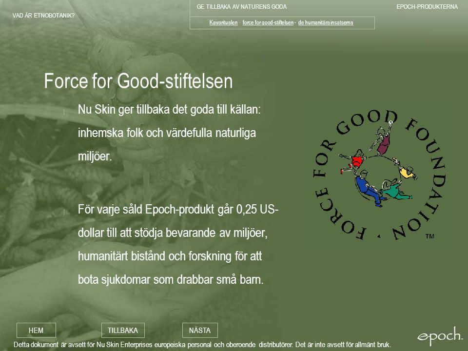 Force for Good-stiftelsen