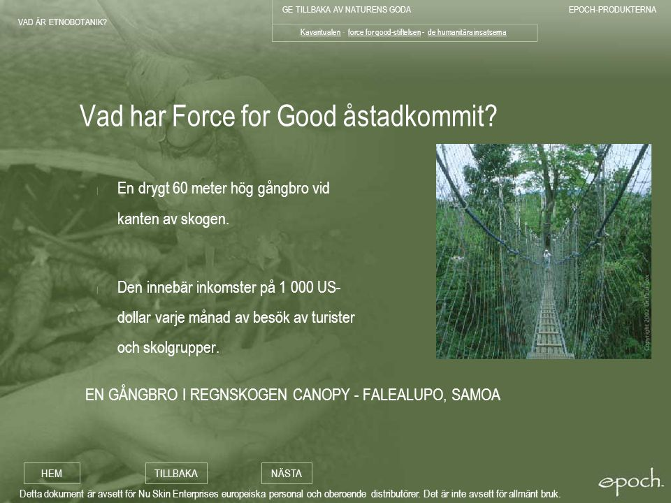 Vad har Force for Good åstadkommit
