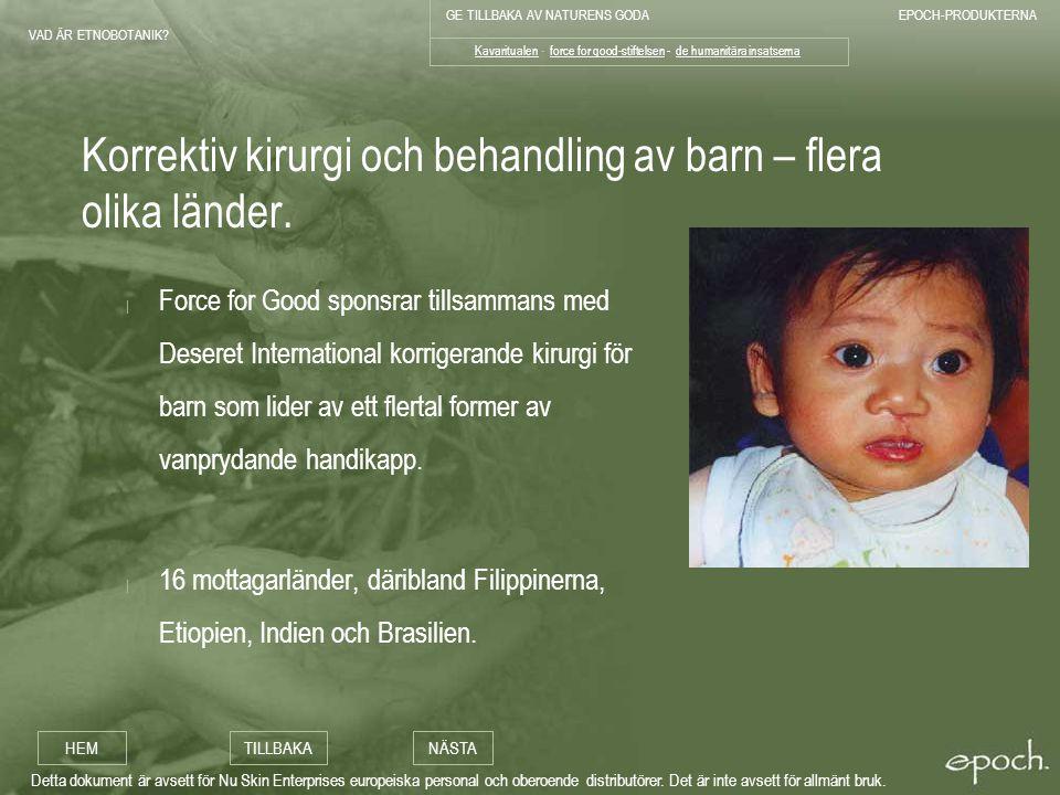 Korrektiv kirurgi och behandling av barn – flera olika länder.