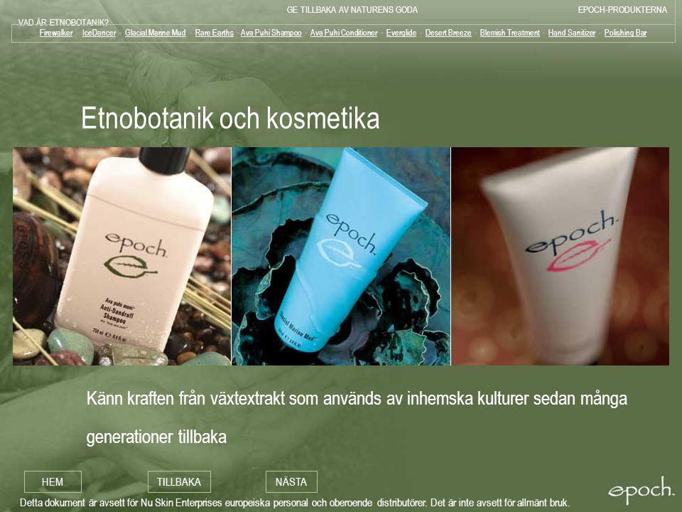 Etnobotanik och kosmetika
