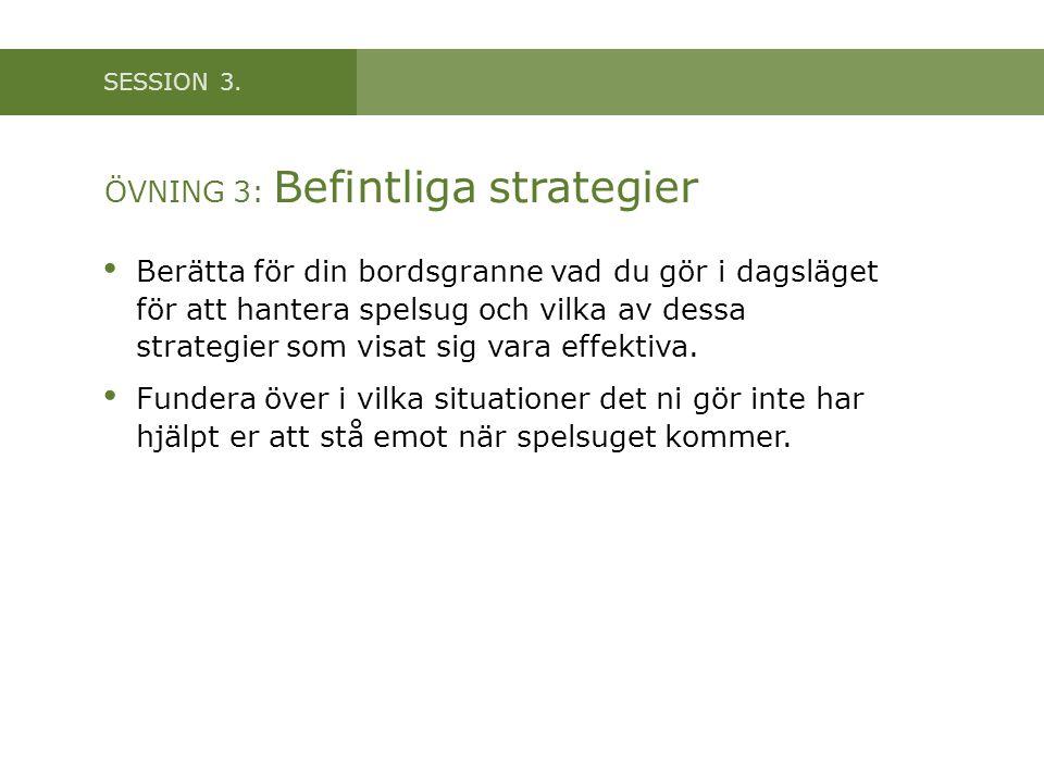 ÖVNING 3: Befintliga strategier