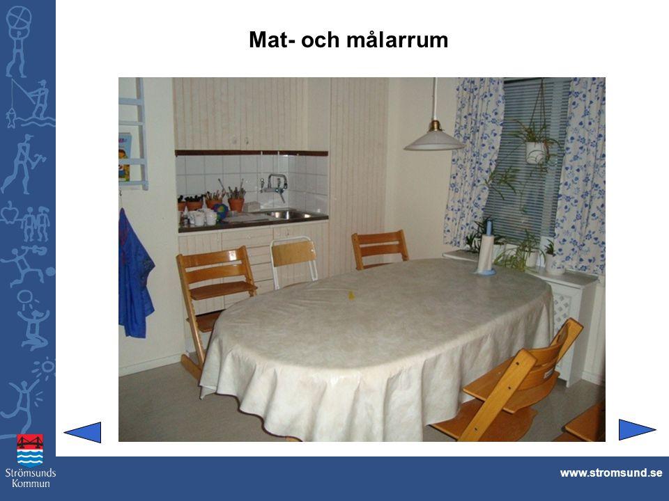 Mat- och målarrum www.stromsund.se