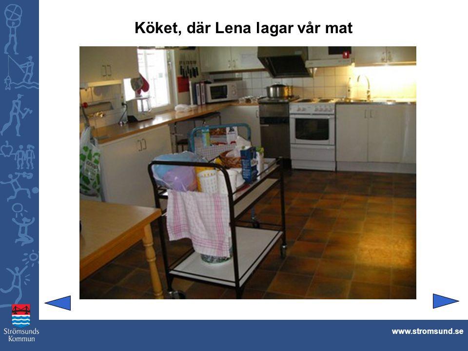 Köket, där Lena lagar vår mat