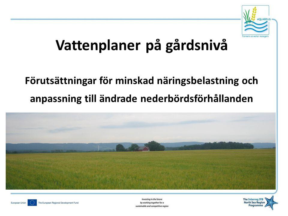 Vattenplaner på gårdsnivå Förutsättningar för minskad näringsbelastning och anpassning till ändrade nederbördsförhållanden