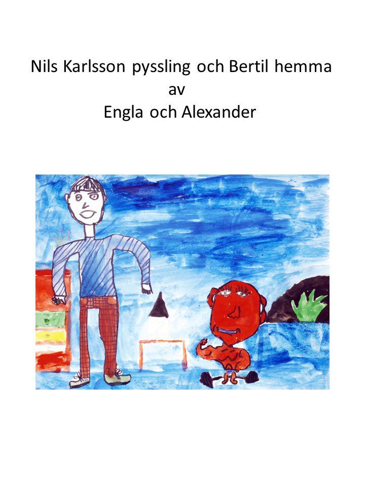 Nils Karlsson pyssling och Bertil hemma