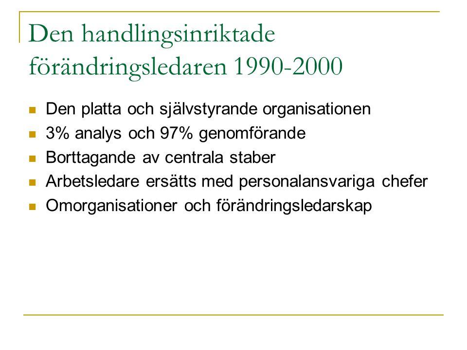 Den handlingsinriktade förändringsledaren 1990-2000