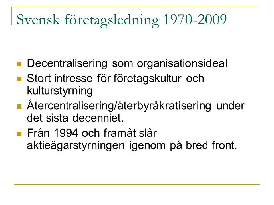 Svensk företagsledning 1970-2009