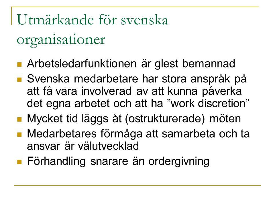 Utmärkande för svenska organisationer