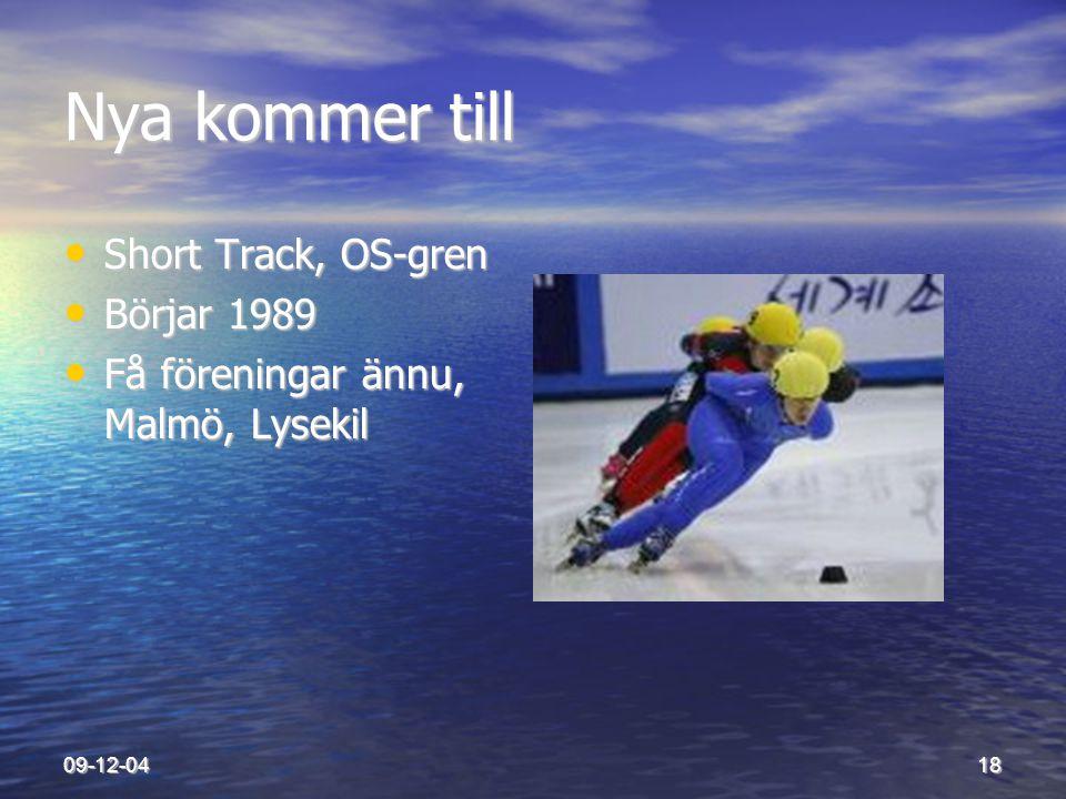 Nya kommer till Short Track, OS-gren Börjar 1989