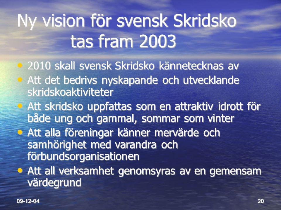 Ny vision för svensk Skridsko tas fram 2003