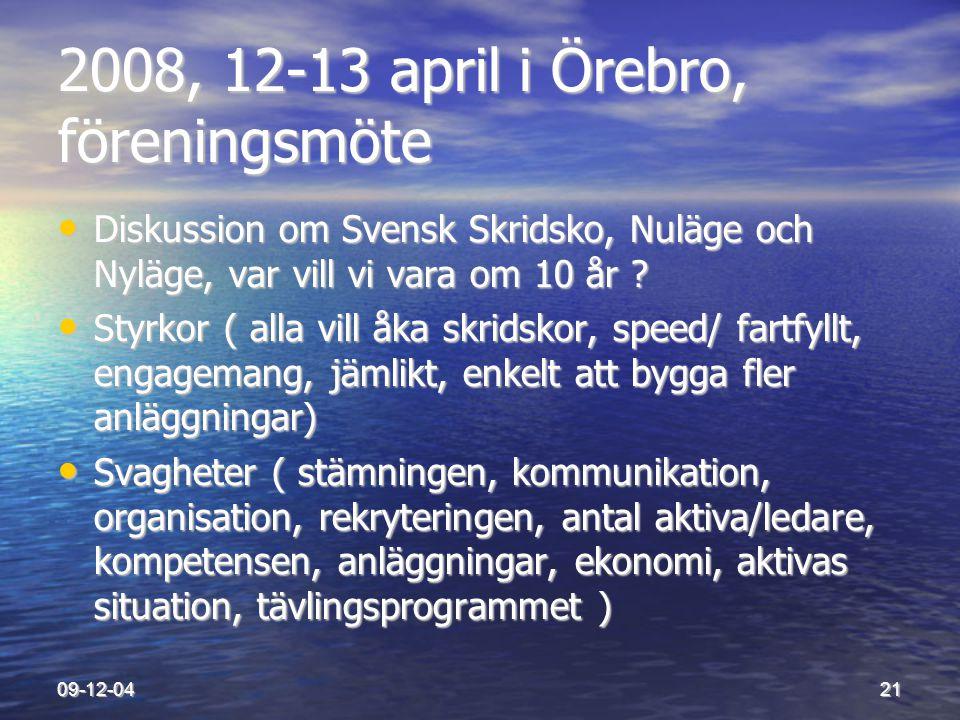 2008, 12-13 april i Örebro, föreningsmöte