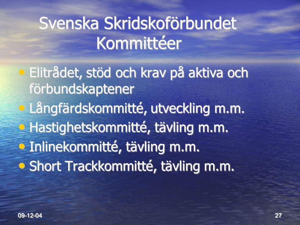 Svenska Skridskoförbundet Kommittéer