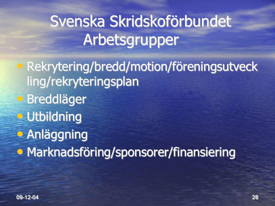Svenska Skridskoförbundet Arbetsgrupper