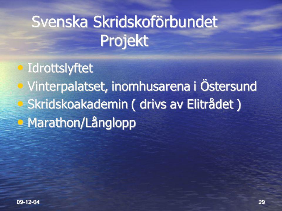 Svenska Skridskoförbundet Projekt