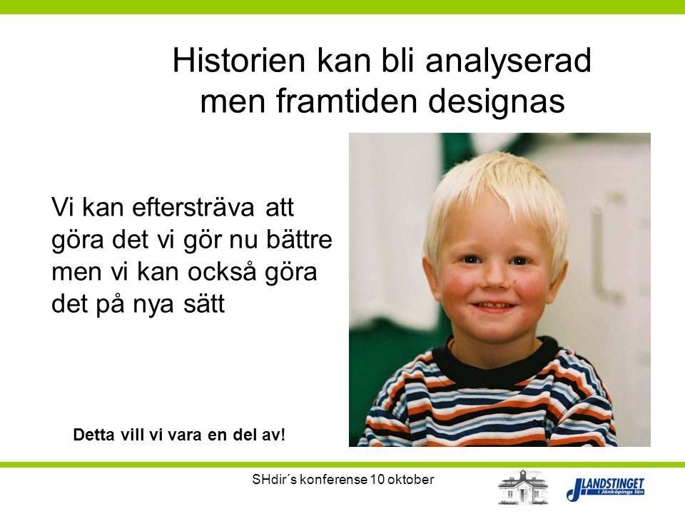 Historien kan bli analyserad men framtiden designas