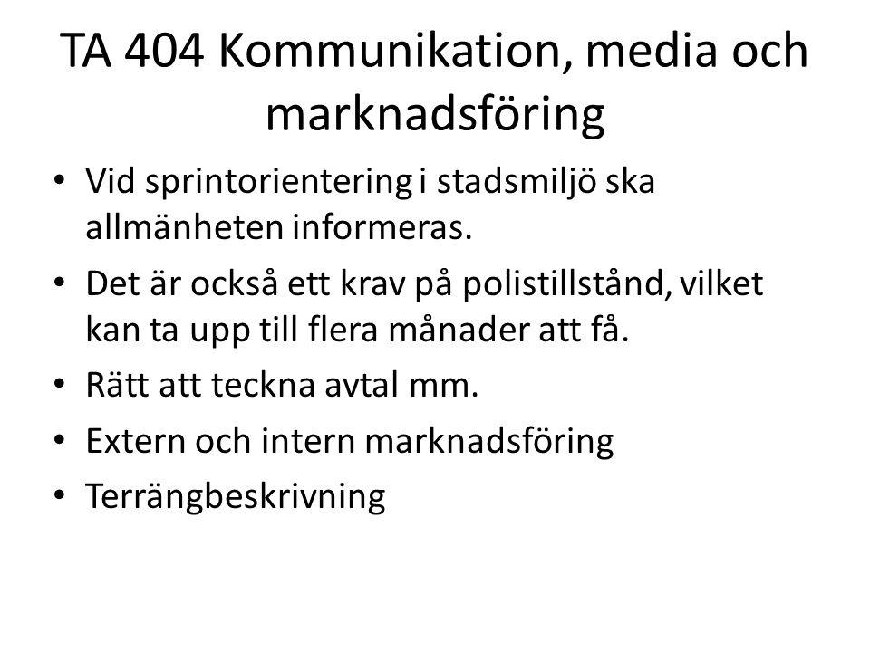 TA 404 Kommunikation, media och marknadsföring