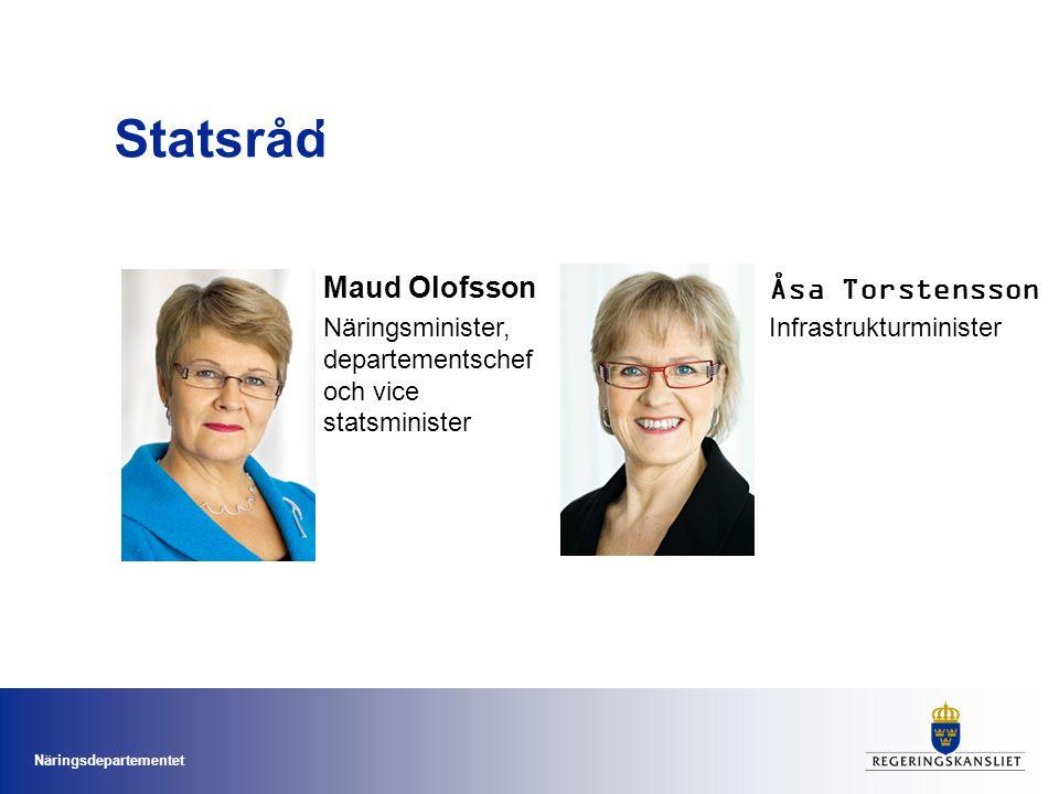 Statsråd Maud Olofsson Åsa Torstensson