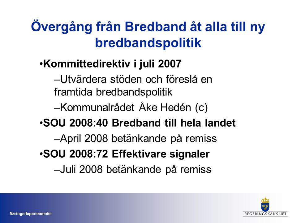 Övergång från Bredband åt alla till ny bredbandspolitik