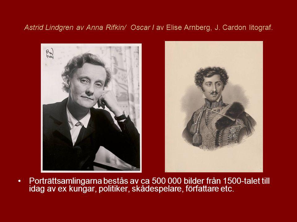 Astrid Lindgren av Anna Rifkin/ Oscar I av Elise Arnberg, J