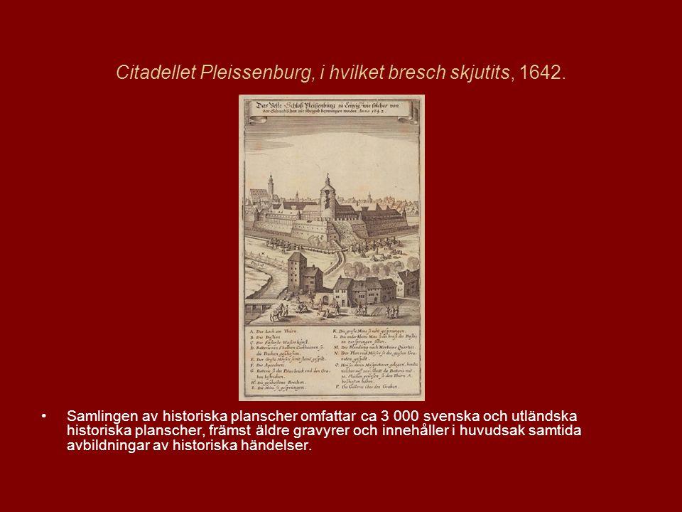 Citadellet Pleissenburg, i hvilket bresch skjutits, 1642.