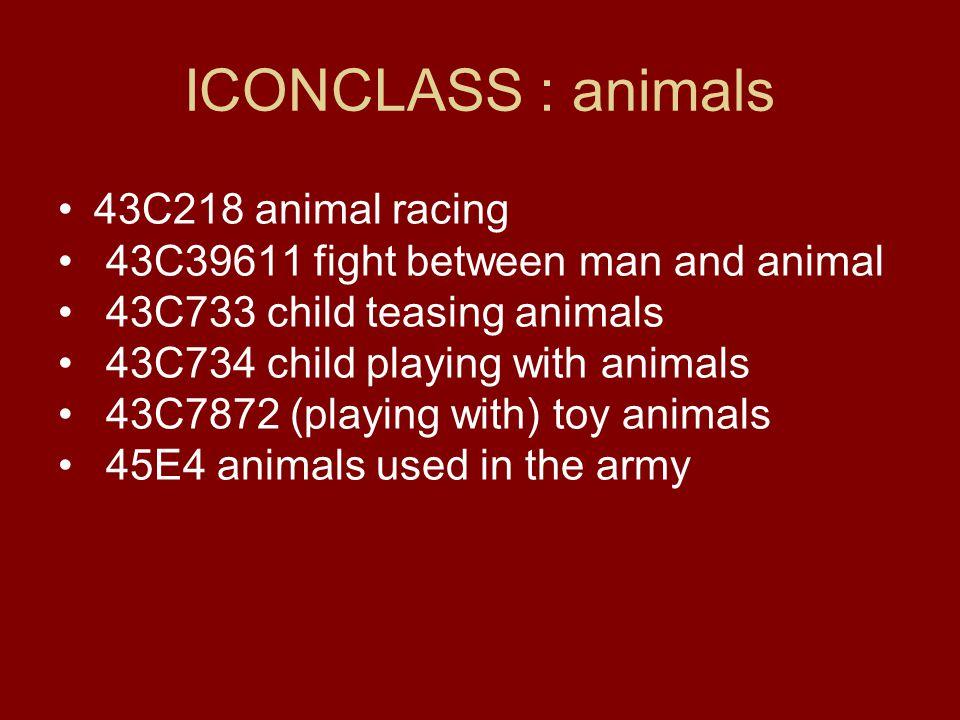 ICONCLASS : animals 43C218 animal racing