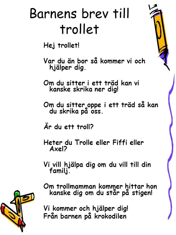 Barnens brev till trollet
