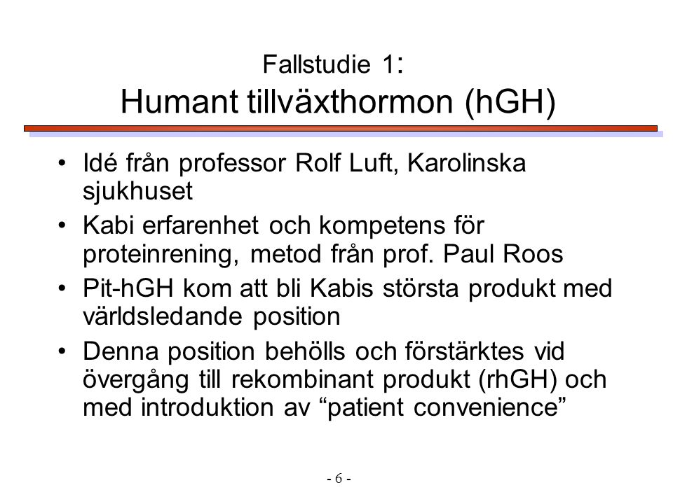 Humant tillväxthormon (hGH)