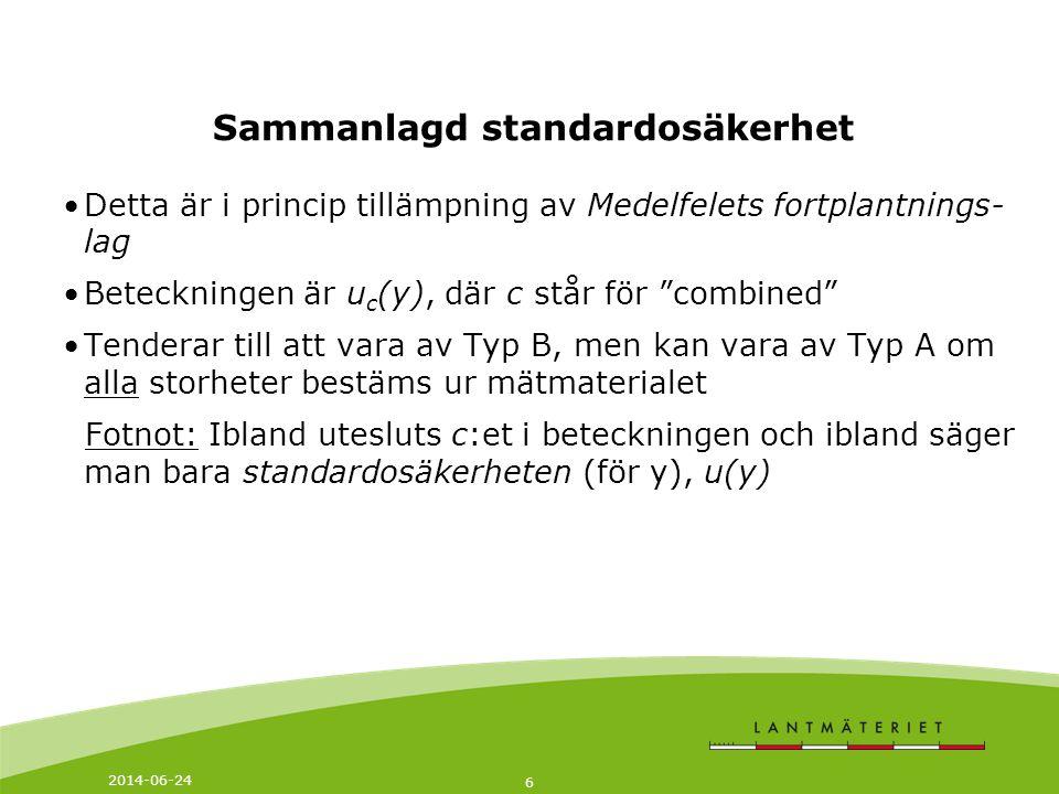 Sammanlagd standardosäkerhet
